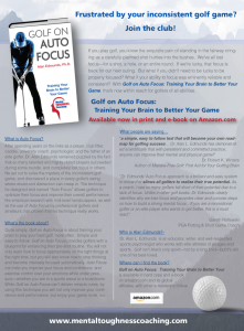 GolfOnAutoFocusFactSheet - writer, author, ghostwriter, collaborator, communications maven, media relations